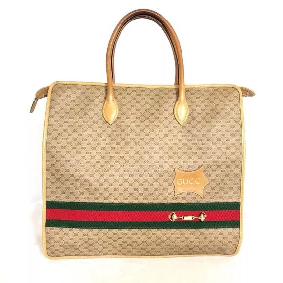 c6135426d493 Gucci Bags | Vintage Mini Monogram Tote Bag | Poshmark
